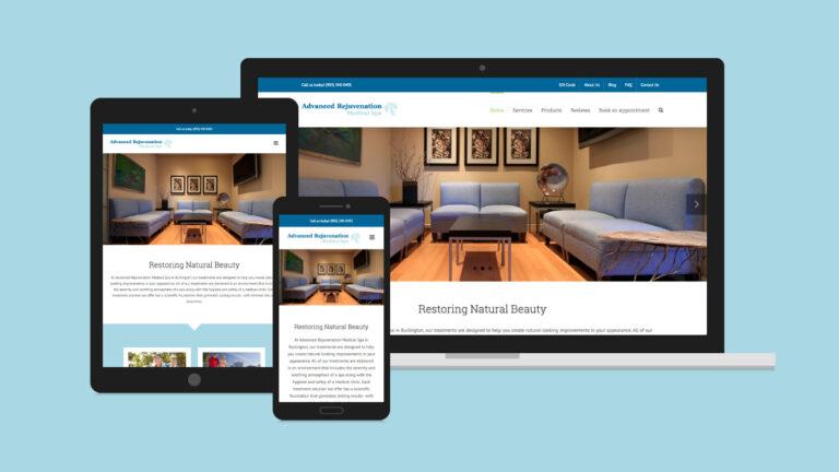 Advanced Rejuvenation Medical Spa Website Design