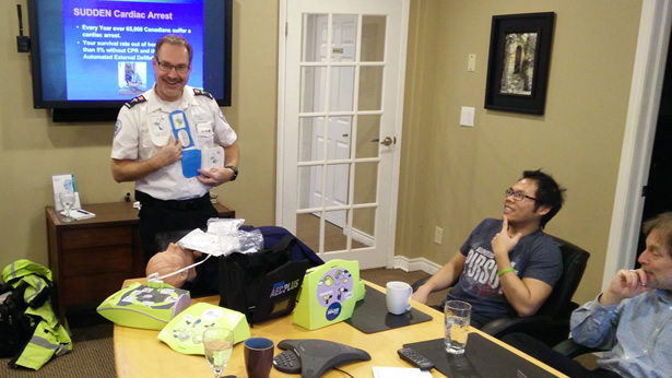 AED training in the workplace