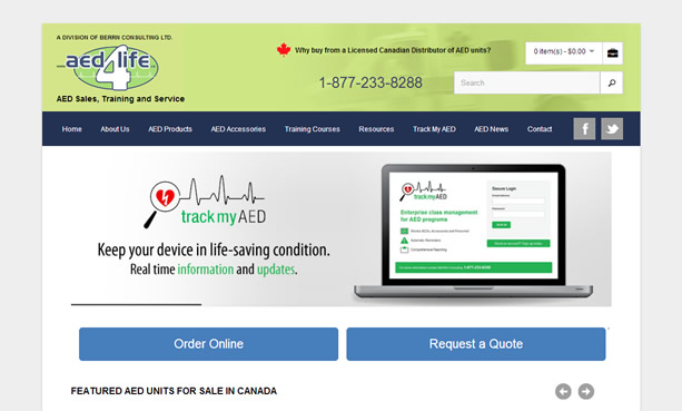 AED4Life website design