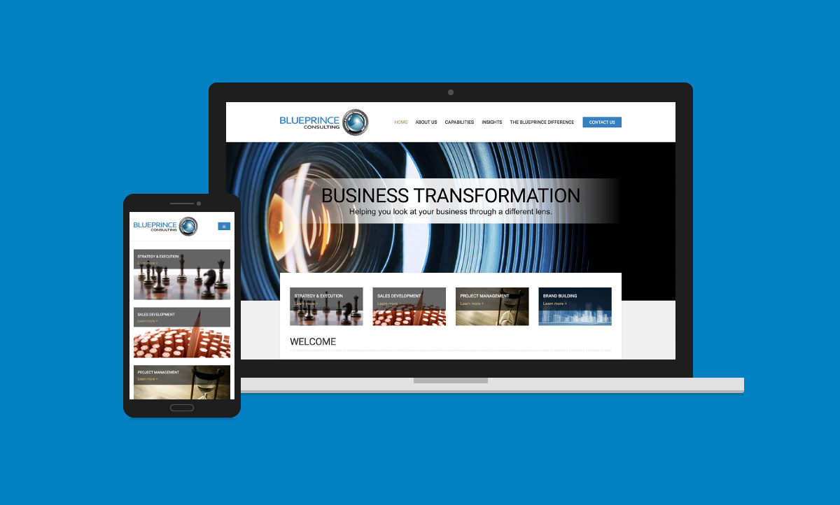 BluePrince Consulting website design