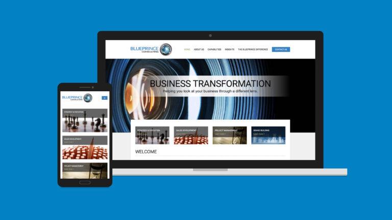 BluePrince Consulting website design