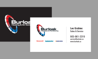 Burloak Heating & Air Conditioning business card design