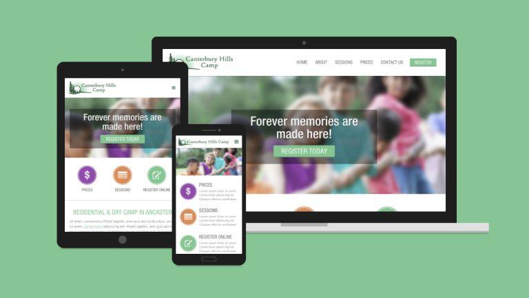 Canterbury Hills Camp Website Design