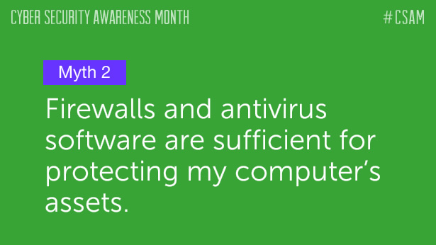 Myth 2: Firewalls and antivirus software are sufficient for protecting my computer's assets