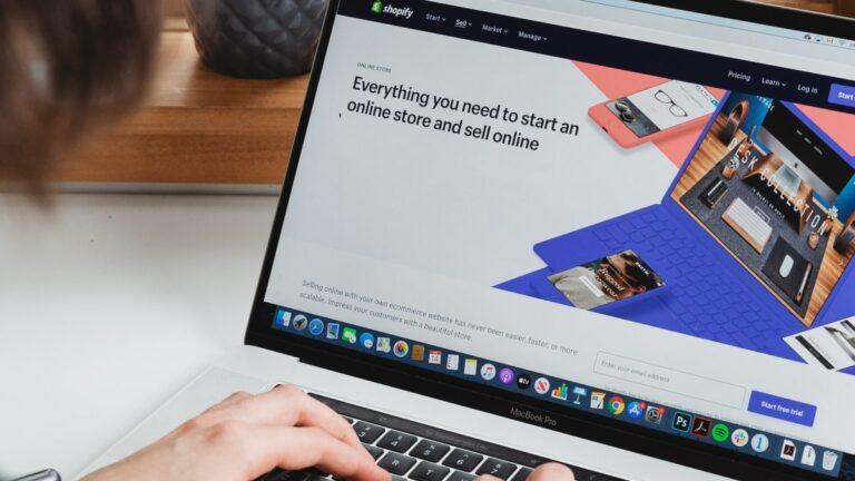User browsing eCommerce website