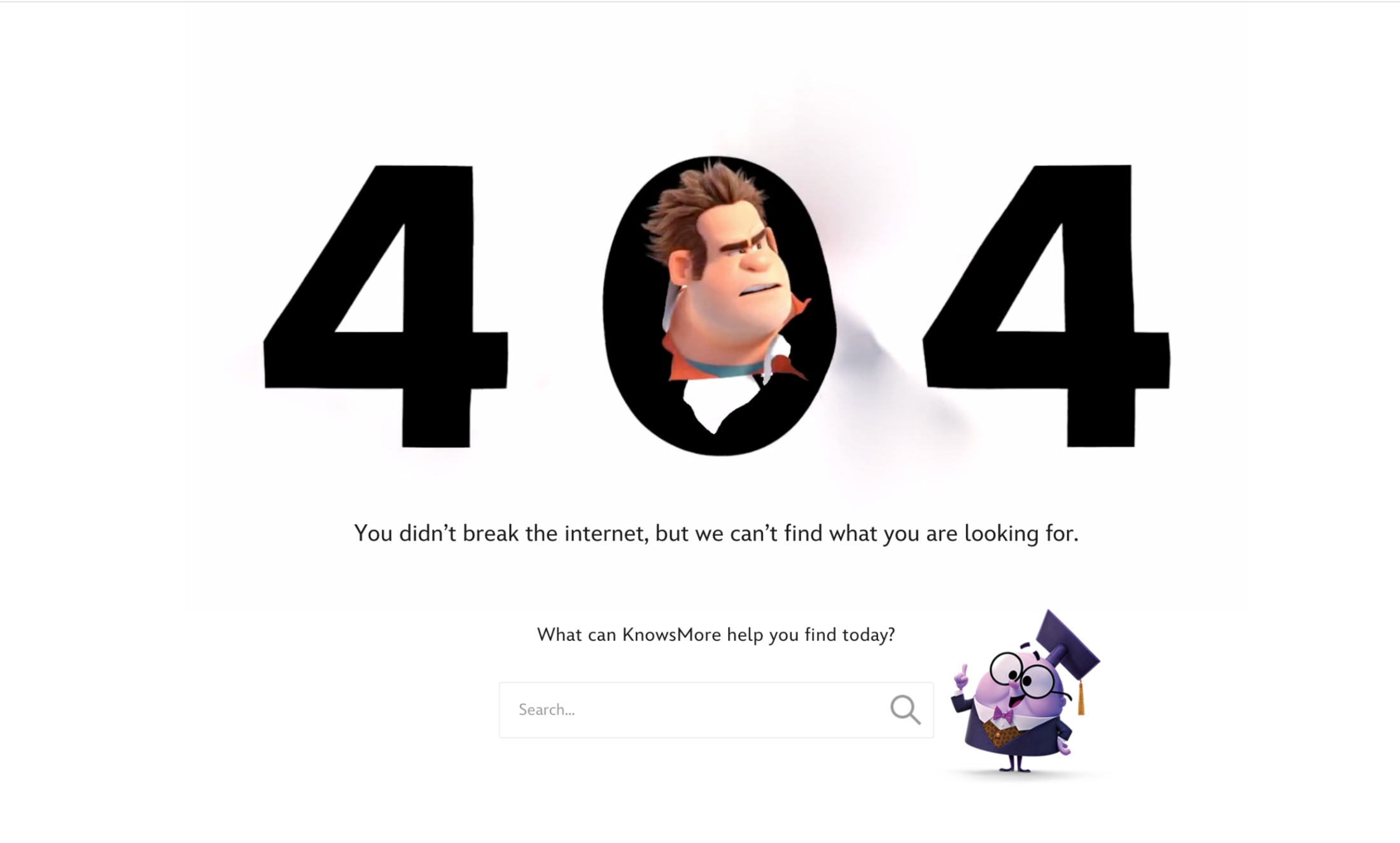 Disney's 404 Page