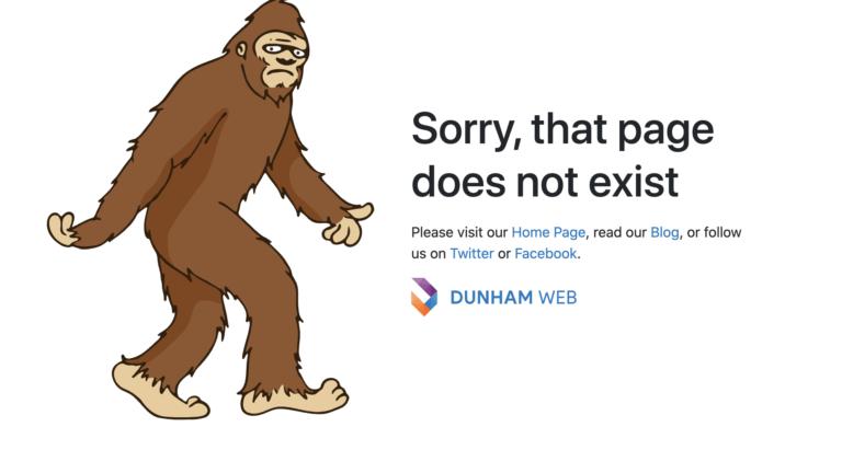 Dunham's 404 Page