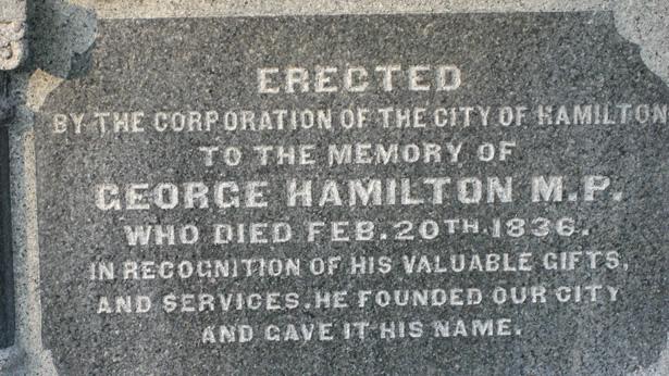 George Hamilton Tombstone