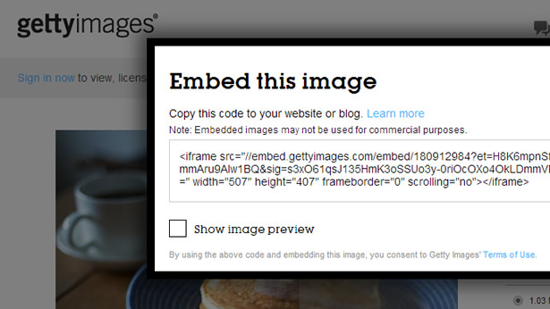 Getty Images Embed This Image Screenshot