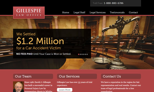 Gillespie Law Office website design