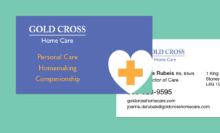 Gold Cross Home Care Business Card Design