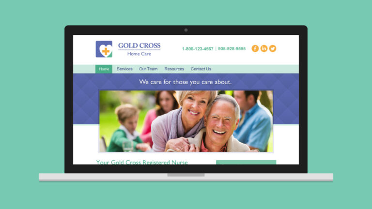 Gold Cross Home Care Website Design