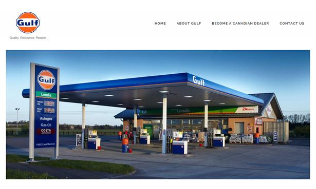 Gulf Canada Website Design