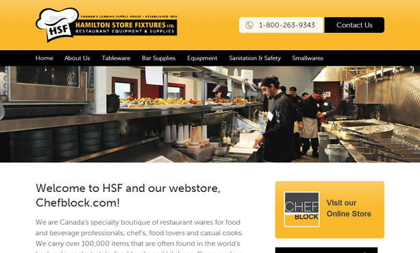 Hamilton Store Fixtures Website Design