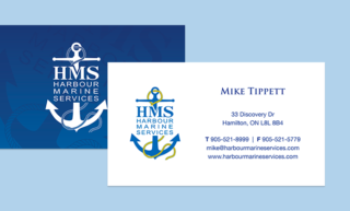 Harbour Marine Business Card Design