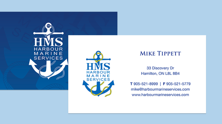 Harbour Marine Business Card Design