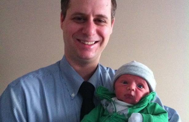 Jeremy McMaster and his baby Seth
