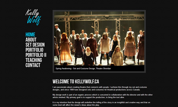 Kelly Wolf Website Design