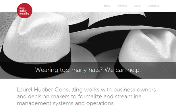 Laurel Hubber Consulting Website Design