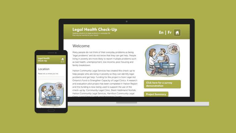 Legal Health Checkup Website Design