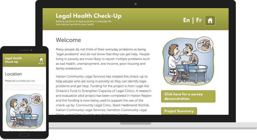 Legal Health Check-Up Website Design