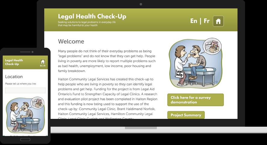 Legal Health Check-Up Website Design