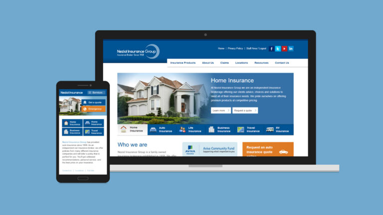 Neziol Insurance Website Design