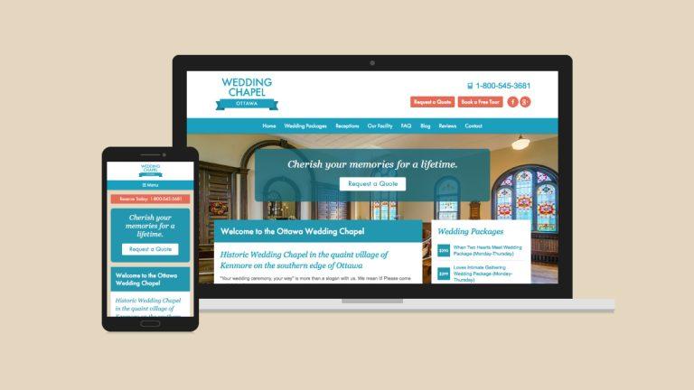 Ottawa Wedding Chapel Website Design