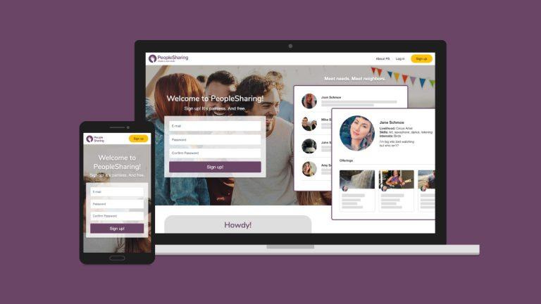 People Sharing Website Design