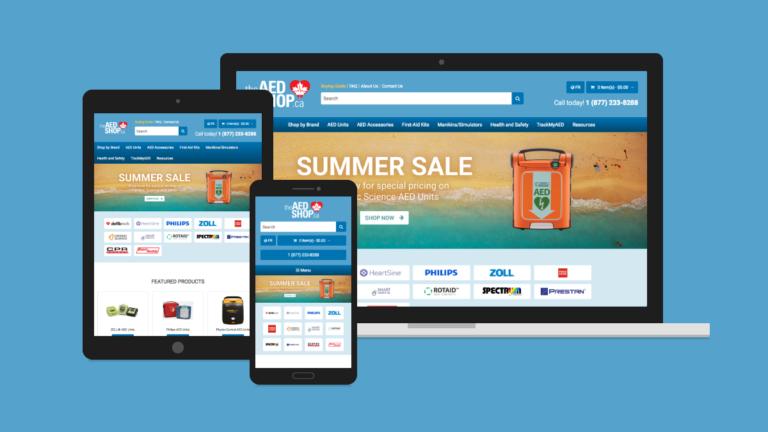 The AED Shop Website Design