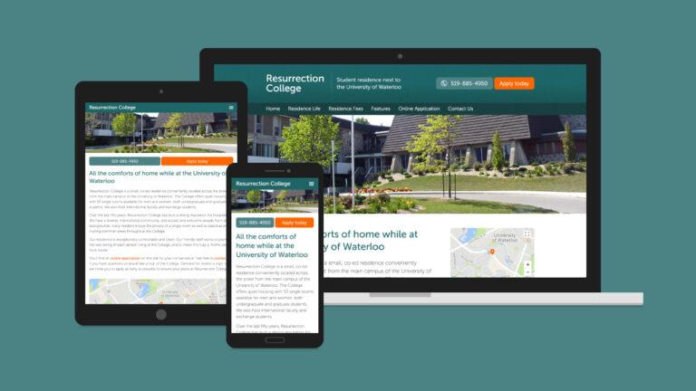 Resurrection College Website Design