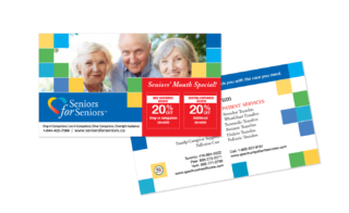 Seniors for Seniors Post Card