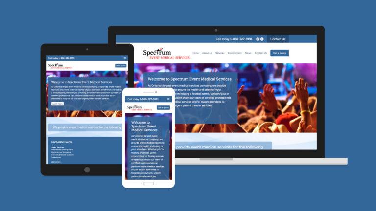 Spectrum Event Medical Services Website Design