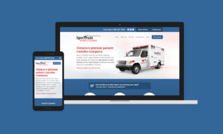 Spectrum Patient Services Website Design