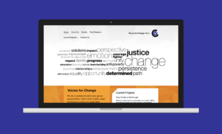 Voices for Change Website Design