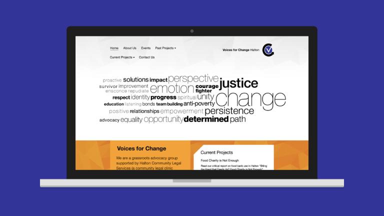 Voices for Change Website Design