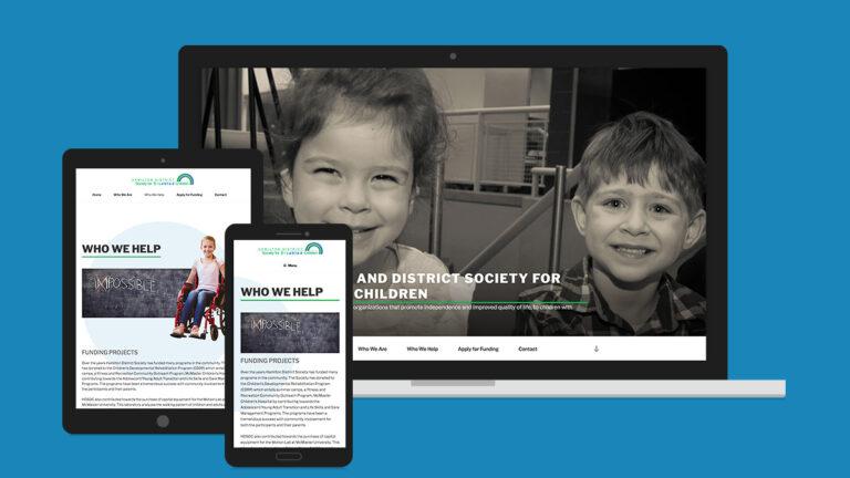 Hamilton District Society or Disables Children Website Design