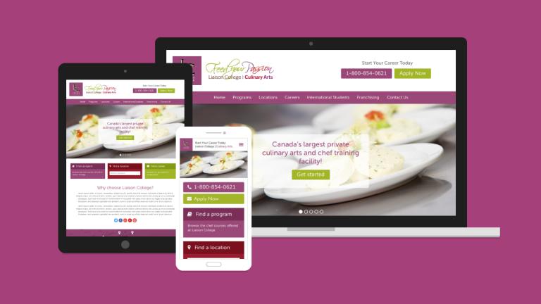 Liaison College Website Design