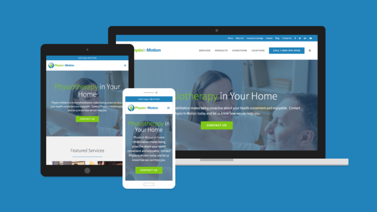 Physio In Motion Website Design