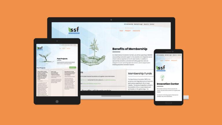 Seed Science Foundation Website Design