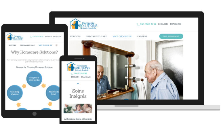 Home Care Solutions on Different Devices