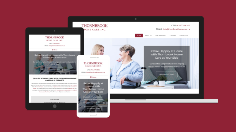 Thornbrook Home Care Website Design